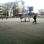 Просторен училищен двор