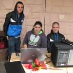 Техническият екип - Елица, Георги и Севастиян